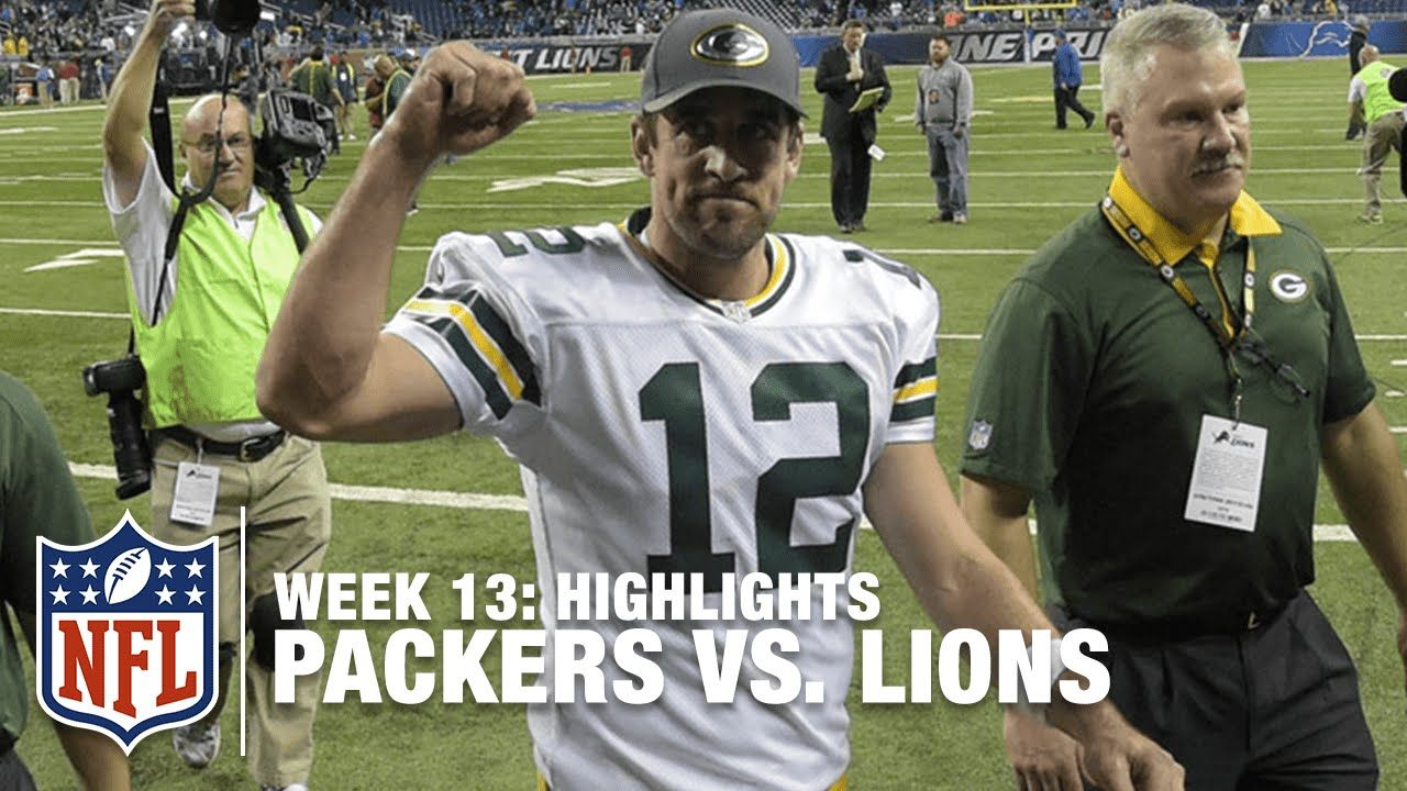 Packers Vs Lions Week 13 Highlights Nfl Nfl Nfl Packers Packers