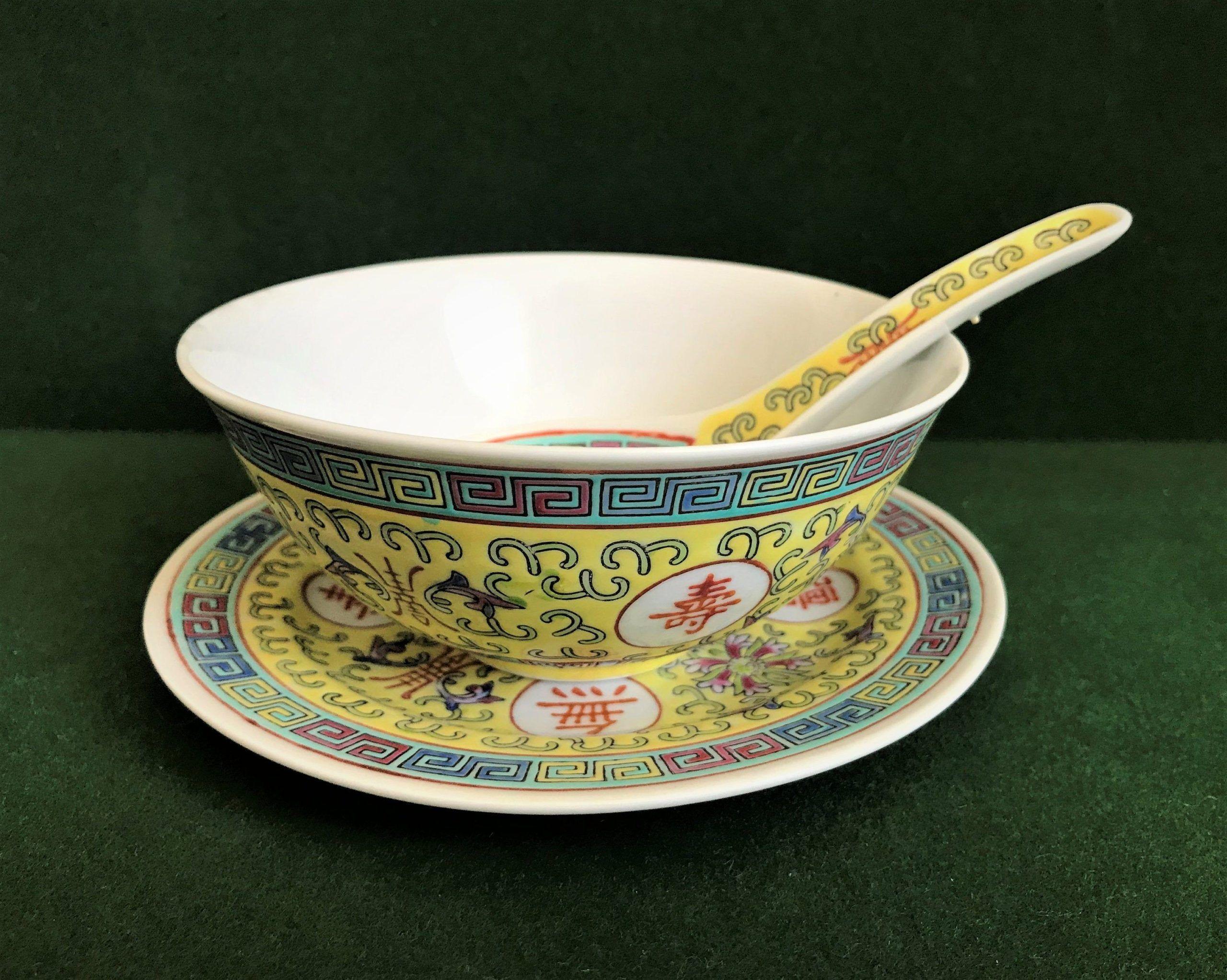 Vintage Chinese Soup Set Porzellan ... gesamt: 6 Set., #chinese #gesamt #Porzellan #Set #Soup #VINTAGE