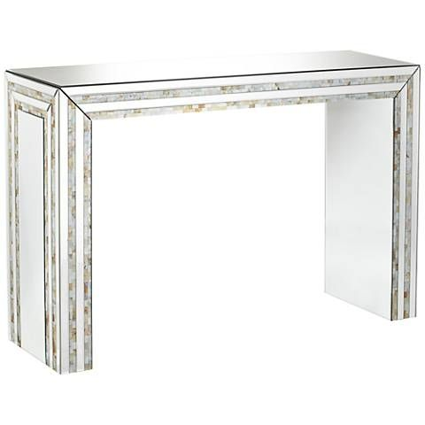 Lillie Mirrored Mosaic Console Table   Style # 11T37