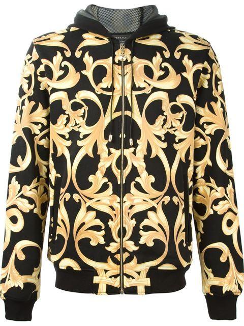VERSACE Baroque Print Hoodie.  versace  cloth  hoodie  42cd89795