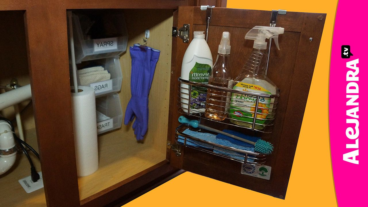 [VIDEO]: How to Organize Under the Kitchen Sink Cabinet