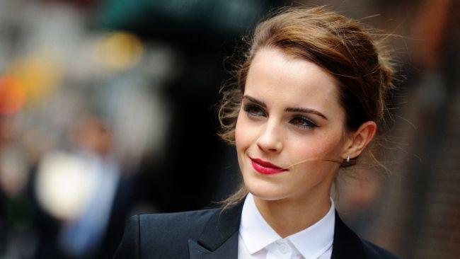 Full Hd Wallpaper Emma Watson Lipstick Actress Blurry Background
