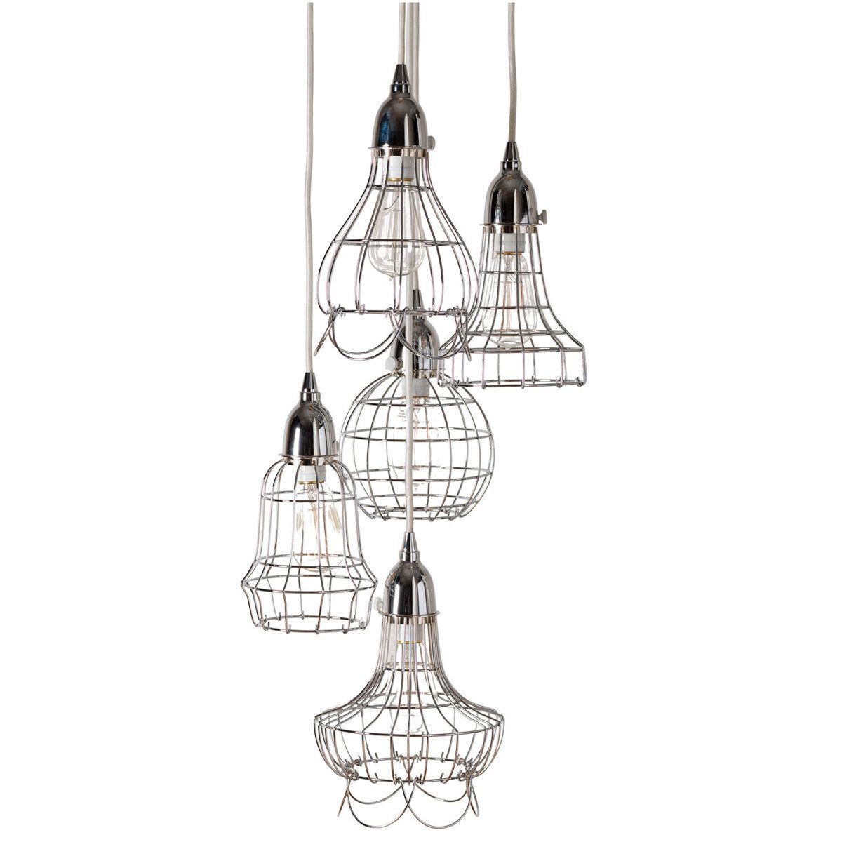 Industrial Cage Work Light Chandelier Pendant Lamp Design