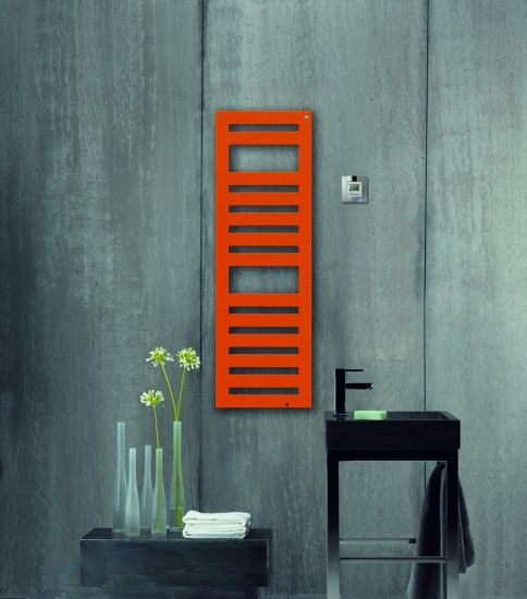 platte radiator met opvallende kleur  shapepattern