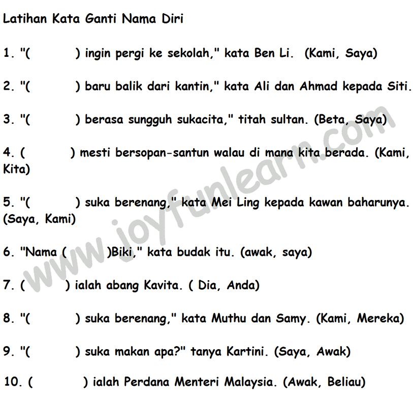 Image Result For Kata Ganti Diri Latihan Lesson Math Language