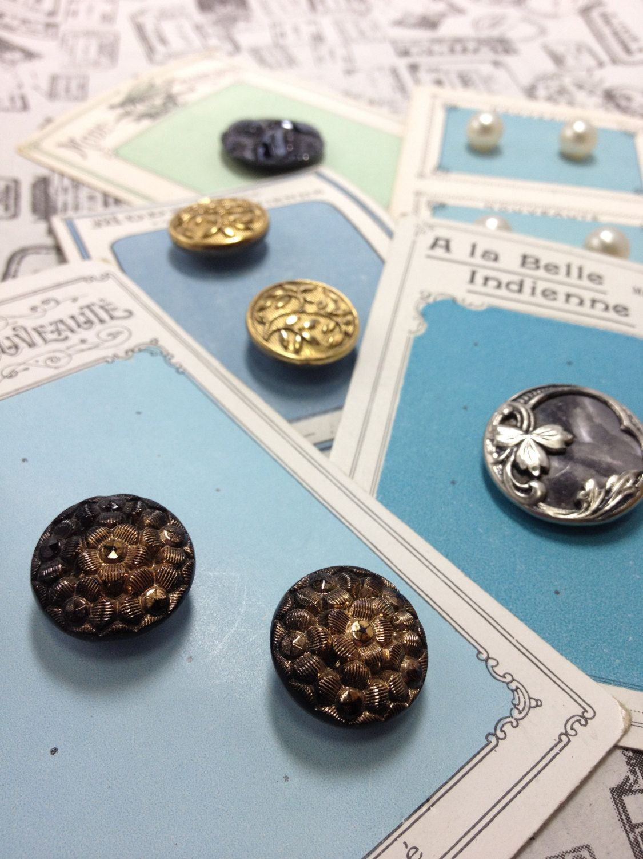 French Vintage Button. $48.00, via Etsy.