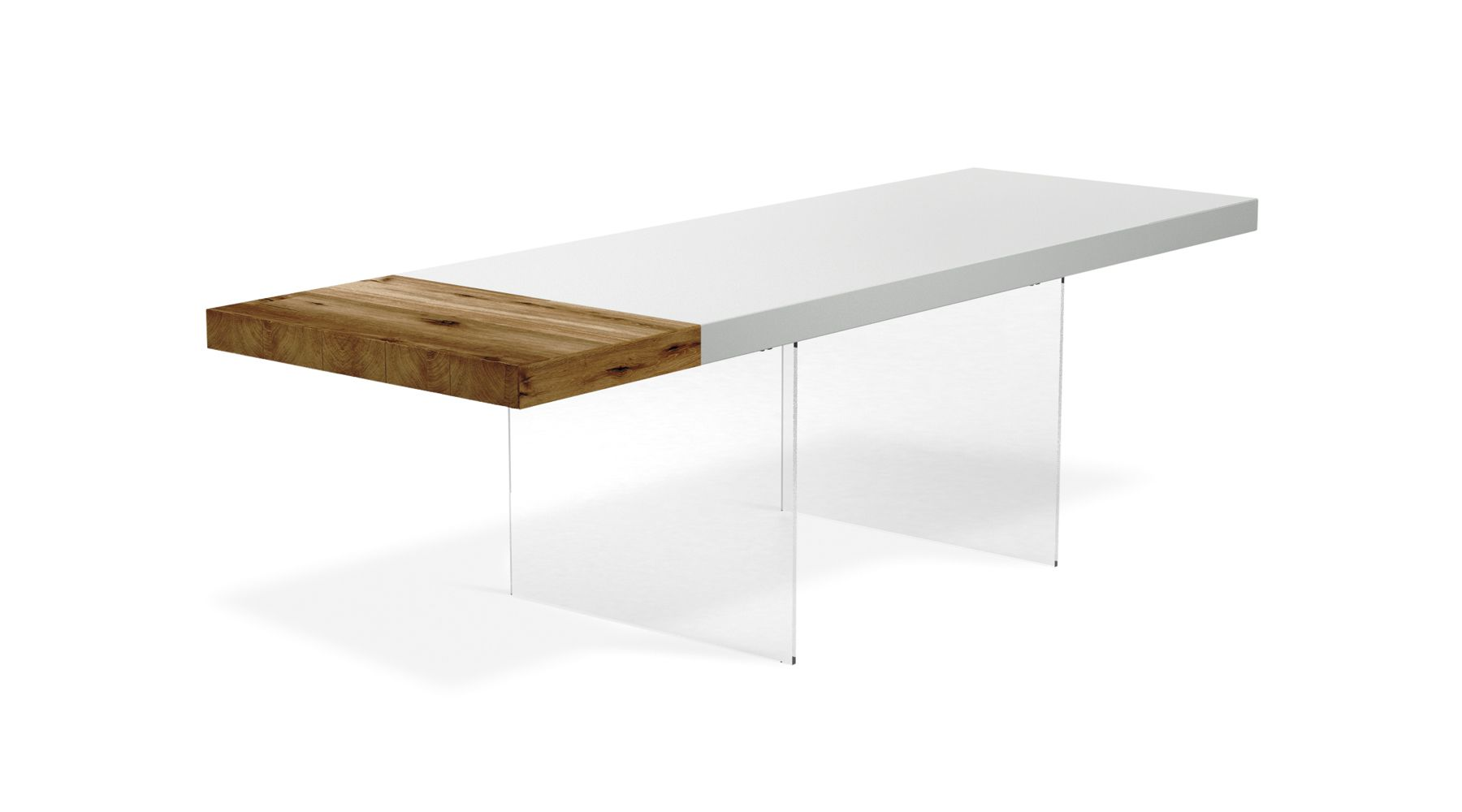 Add 4 extra seats: the floating table is now extendable. Find out ...
