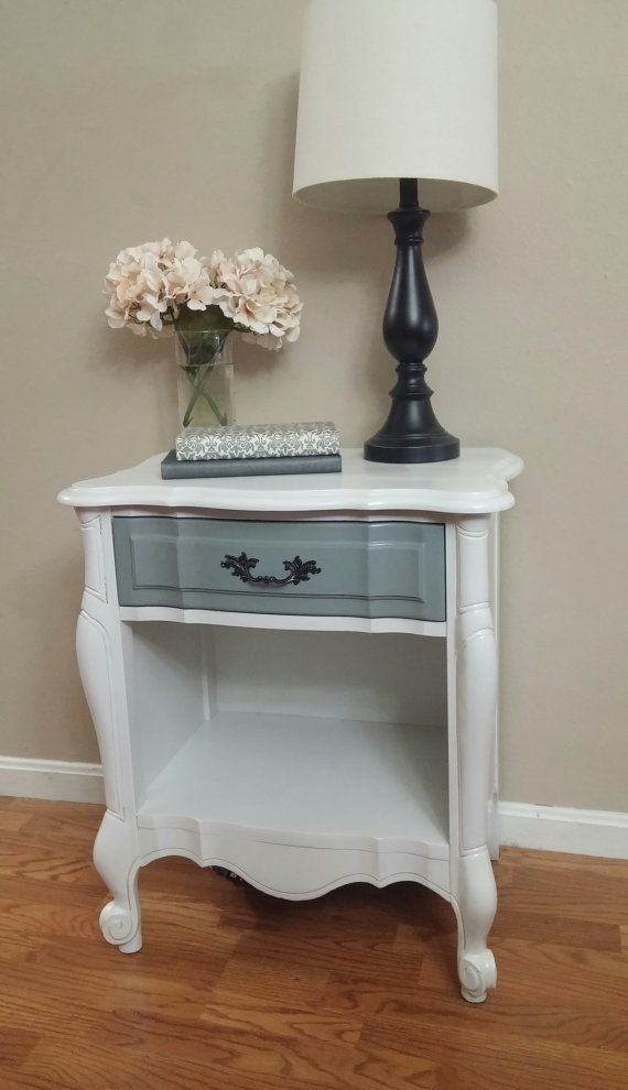 French Provincial Night Stand by PaintedpiecesShop on Etsy