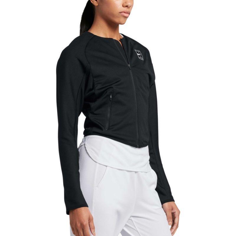 Nike Women S Court Baseline Tennis Jacket Size Medium Black Blazer Jackets For Women Jackets Nike Women