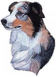 Grand Slam Designs Embroidery Design Australian Shepherd 2 50 Inches H X 1 81 Inches W 4x4 Australian Shepherd Australian Shepherd Dogs Machine Embroidery