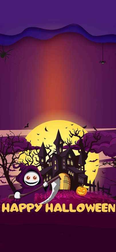 Allhallows Happy Halloween Inserts A Picture Wallpapers For Iphone X Iphone Xs And Iphone Xs Max