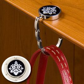 Hang 'Em High Purse Hanger   Don't put your purse on the floor – keep it clean & safe everywhere!