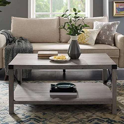 We Furniture Coffe Table 40 Grey Wash With Images Coffee Table Grey Coffee Table Living Room Coffee Table