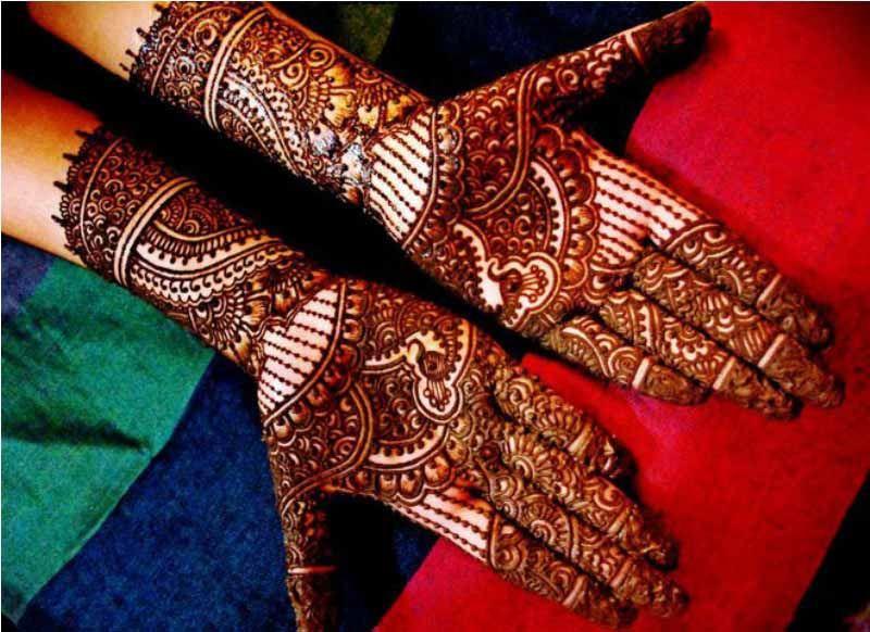 Bridal Mehndi Gta : Fancy hand bridal arabic henna designs aribic design for