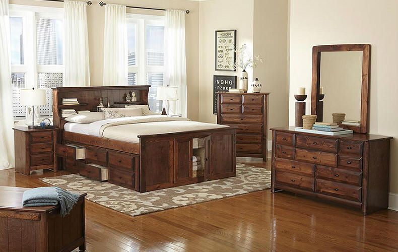lowest price 41da9 e8a60 Otter Creek Queen Size Bookcase Captain's Bed | The Great ...