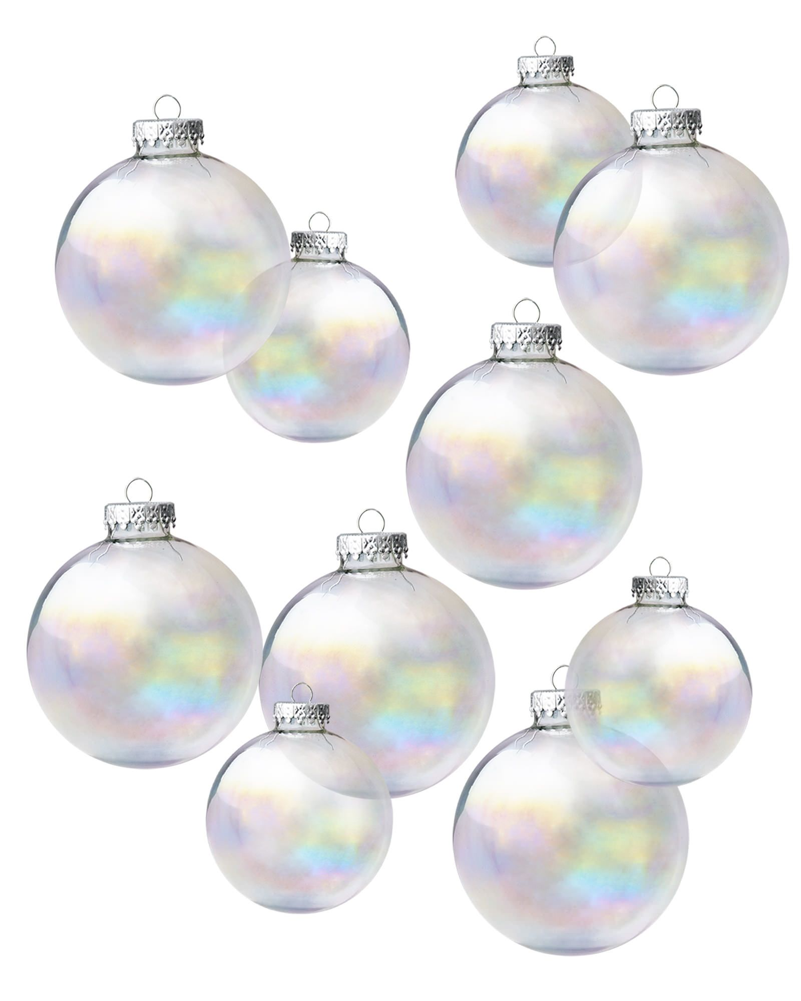 enjoy the magical sights of the holidays with our moons of mercury iridescent ornament set
