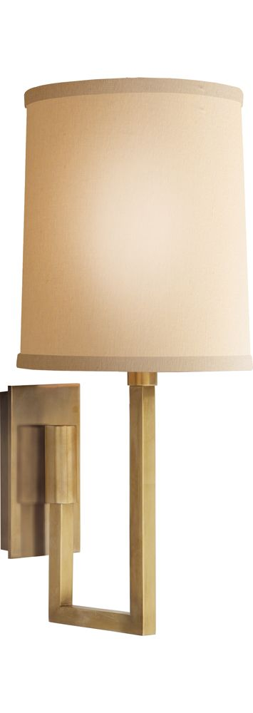 Circa Lighting Aspect Library Stationary Sconce By Barbara Barry In Soft Bronze Sconce