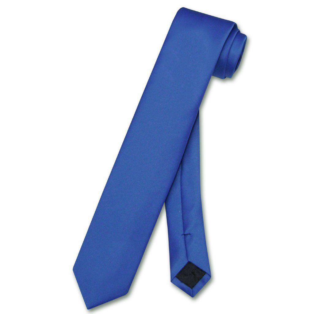 """Vesuvio Napoli Narrow NeckTie Solid PEACH Color 2.5/"""" Skinny Thin Men/'s Neck Tie"""