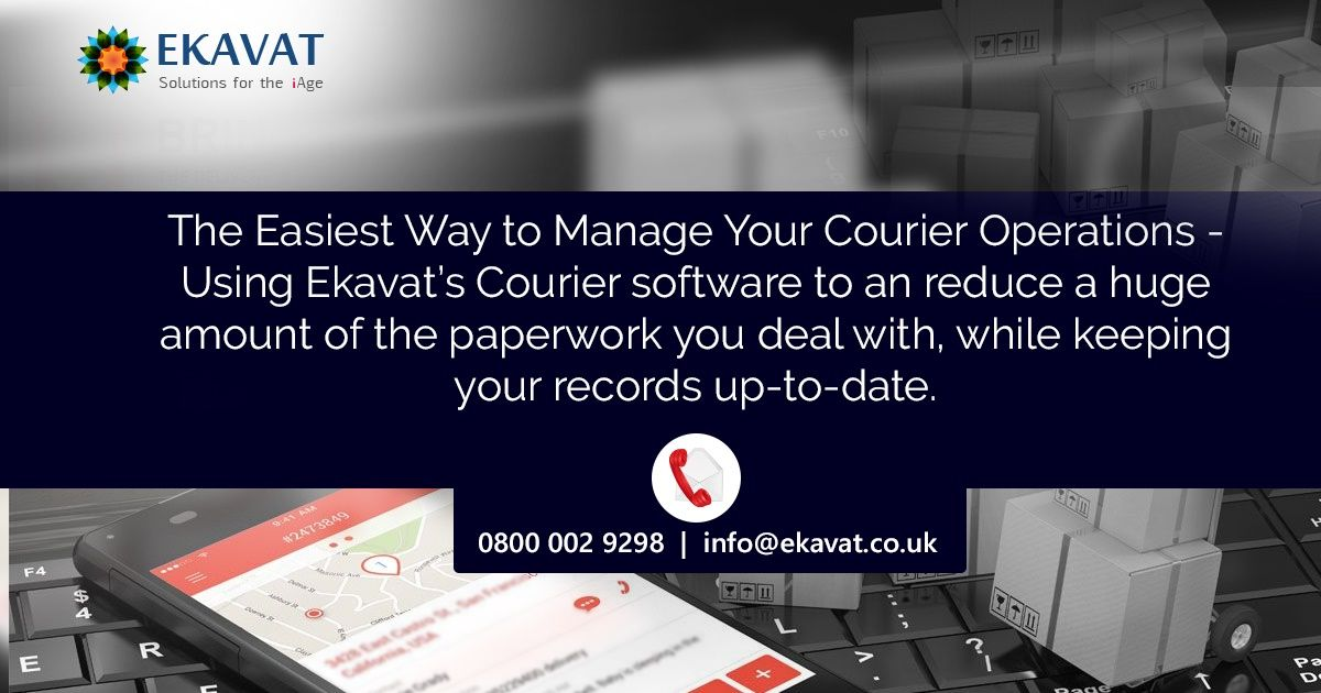 Using Ekavat S Courier Software To An Reduce A Huge Amount Of The