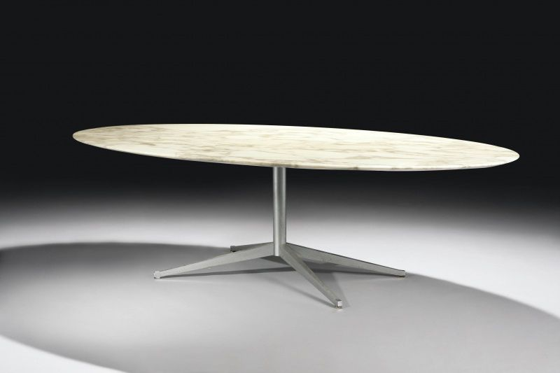 Florence Knoll Table Desk Oval Creation 1961 Edition Knoll Internat Florence Knoll Table Marbre Plateau En Marbre
