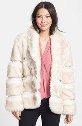 Via Spiga Shawl Collar Faux Fur Jacket (Online Only)