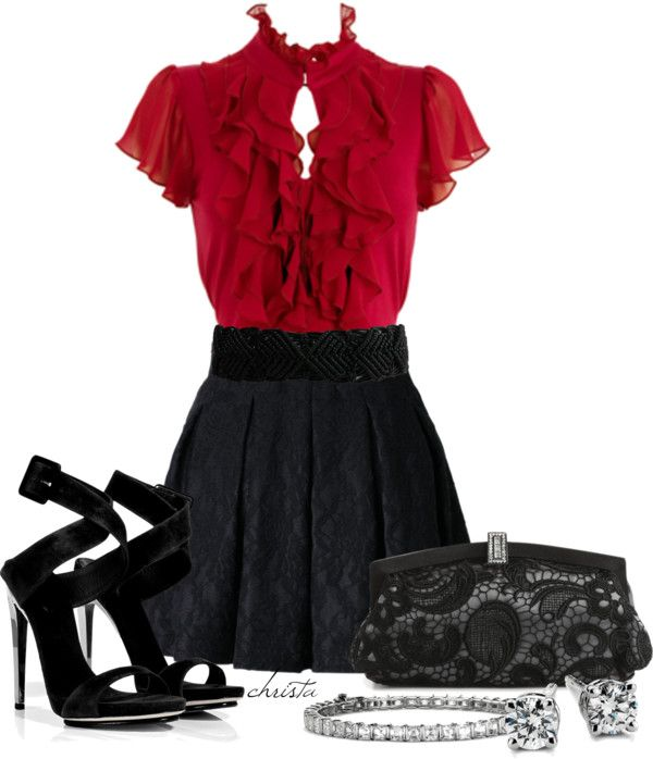 """""""Pleated Skirt"""" by christa72 on Polyvore"""