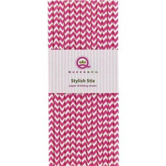 Paper Straws PINK STRIPE Paper Straws Princess by ThatsSoKute, $3.95