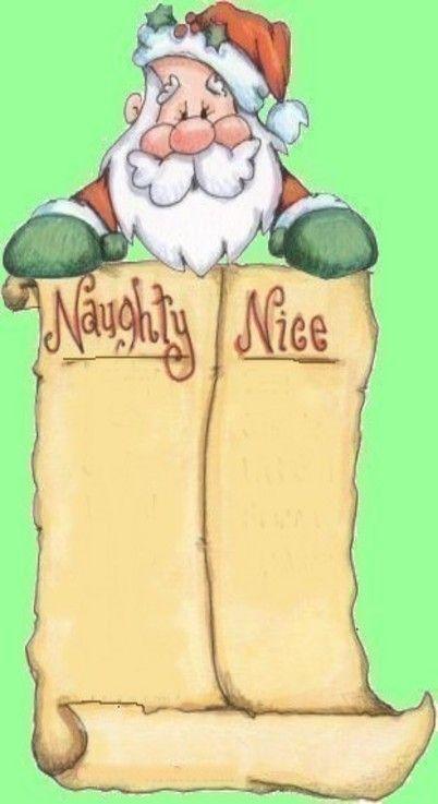 naughty and nice list santa | christmas | Pinterest ...