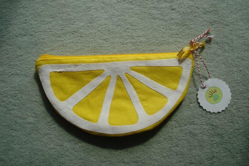 Universaltäschchen - Zitronentasche - ein Designerstück von Biene59 bei DaWanda