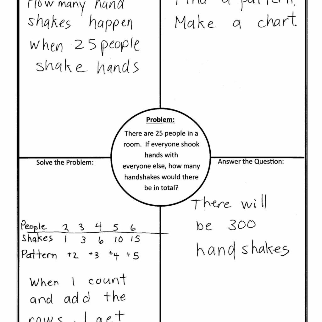 Using 4 Block 4 Corners Template In Math Inside Blank Four Square Writing Template Great Cre Math Word Problems Word Problem Worksheets Four Square Writing [ 1024 x 1024 Pixel ]