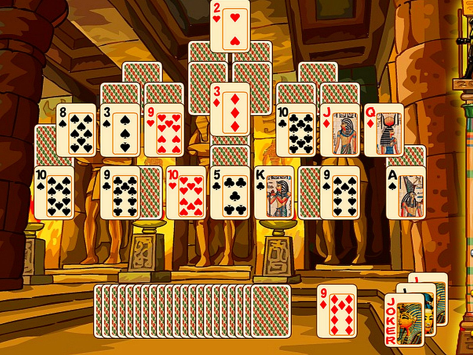 Game of the day Egypt Pyramid Solitaire Combine 2 cards to
