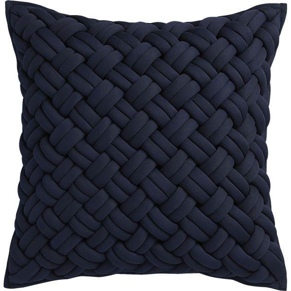 20 Quot Jersey Interknit Navy Pillow With Down Alternative