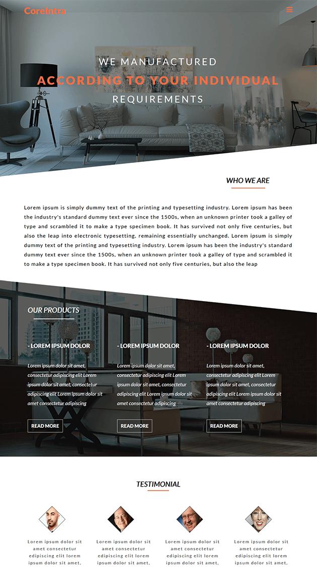 Free web template for Furniture & Interior website #WebDesign ...