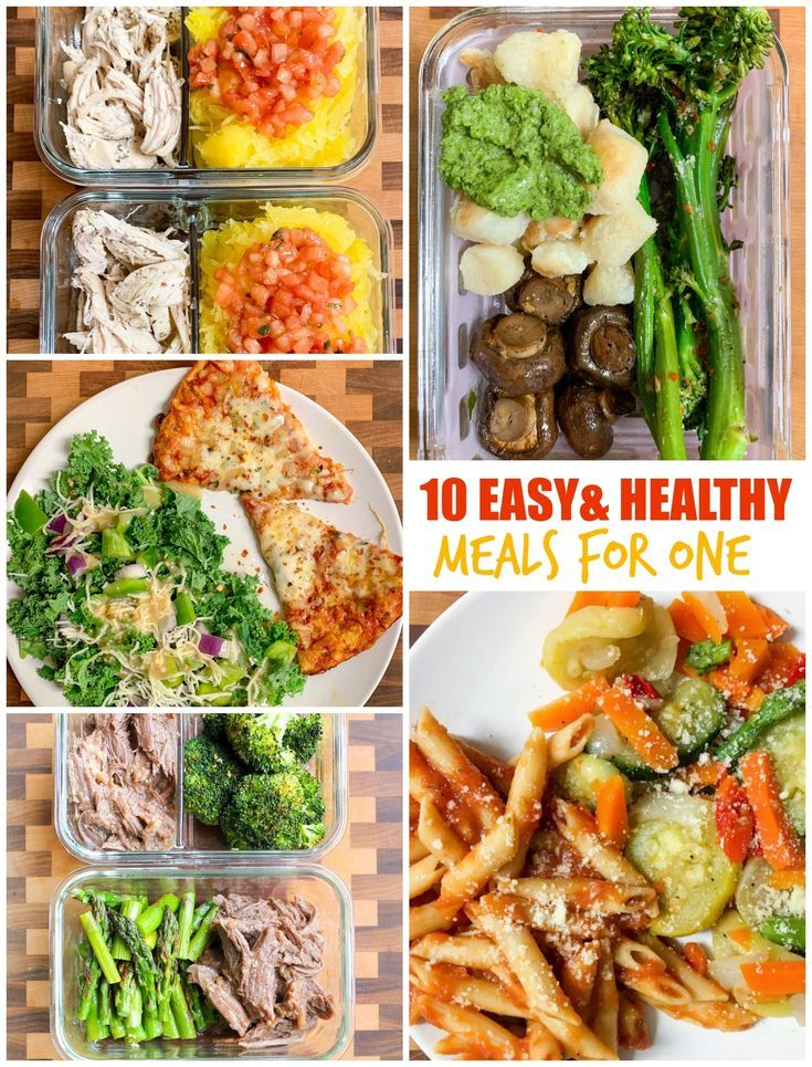 10 Easy and Healthy Meals For One images