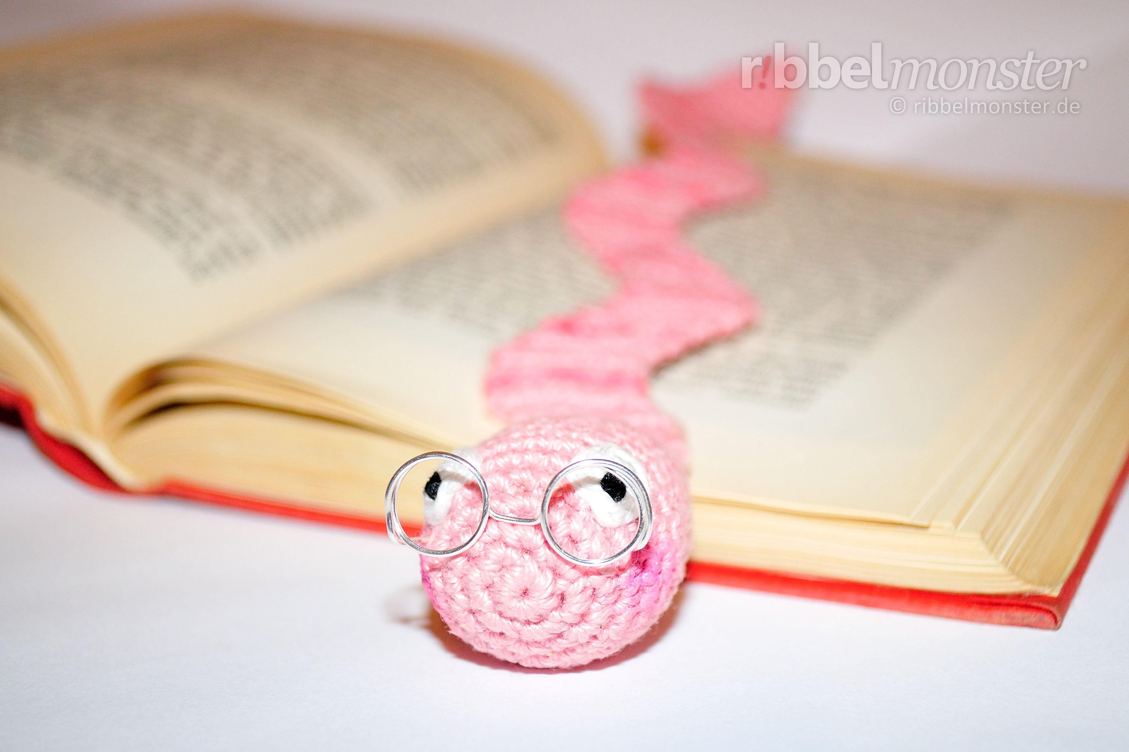 Wurm Lesezeichen Häkeln Bücherwurm Wolbert Kostenlose