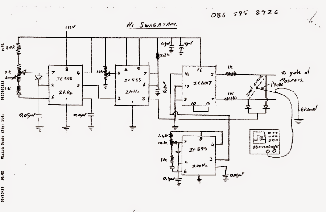 Modified Sinewave Design Using 3nos Ic 555 Electronics Circuit Rhpinterest: Modified Square Wave Inverter Schematic At Gmaili.net
