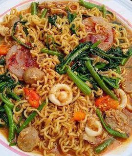 Indomie Kangkung Spicy Resep Masakan Masakan Resep