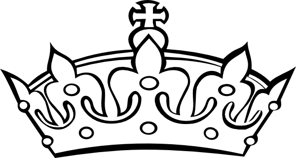 princess crown clipart black