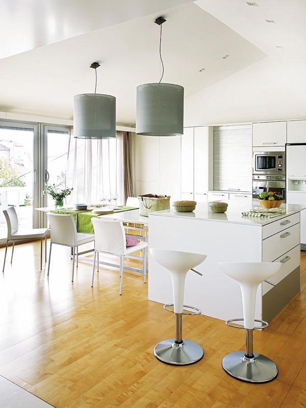 Un cambio radical kitchen eating areas house and kitchens - Cocina comedor integrados ...
