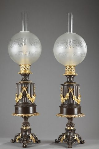 Grand bronze nu f minin accroupi de jean ortis poque art d co en 2019 lampes anciennes - Lampes de salon anciennes ...