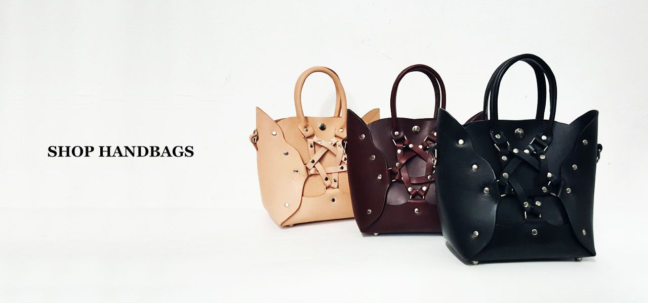 POST-FETISH LEATHER BRAND. Bringing an eccentric vision to leather goods. Handbags & Accessories designed & produced in NYC since 2010. #LeatherWithLove