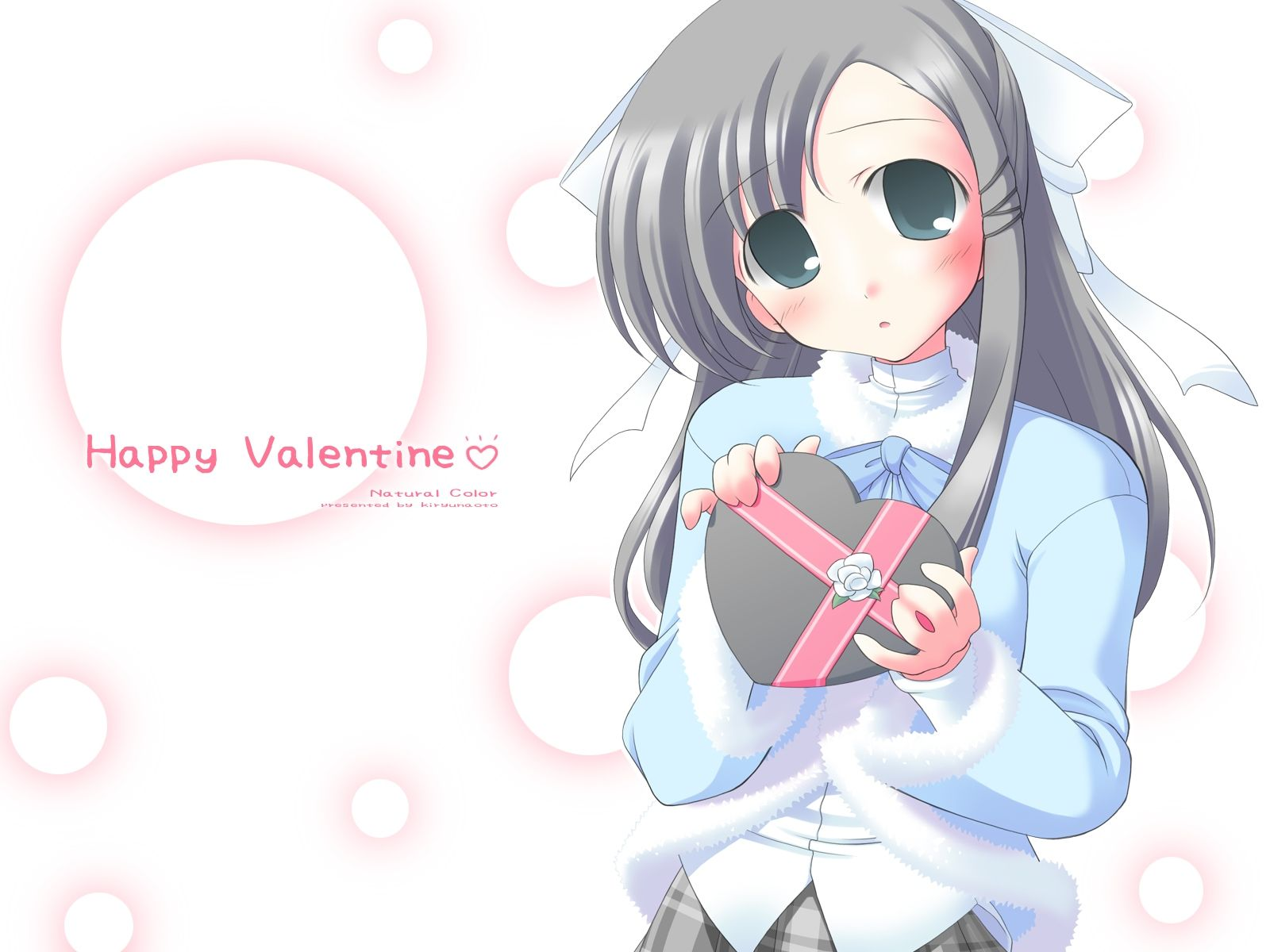 Cute Happy Valentines Day Anime Girl Wallpaper 2964 Wallpaper