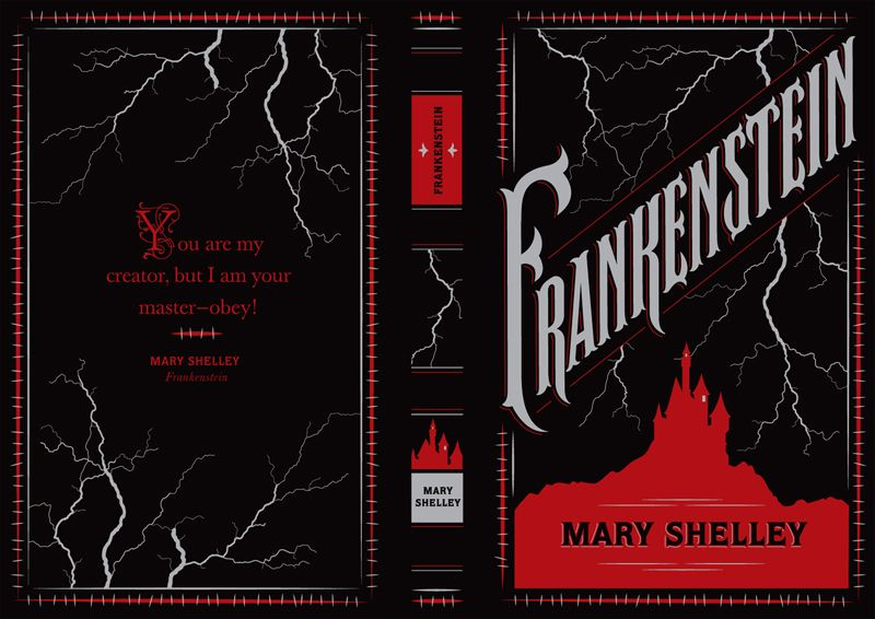 Classic Book Cover Jobs : Frankenstein from a series covers of classic books the