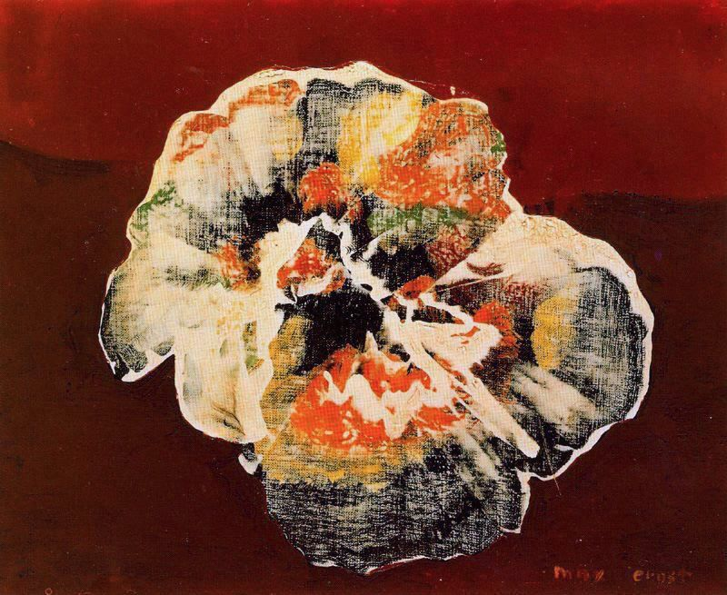 Max Ernst Flower Shell Max Ernst Art Painting