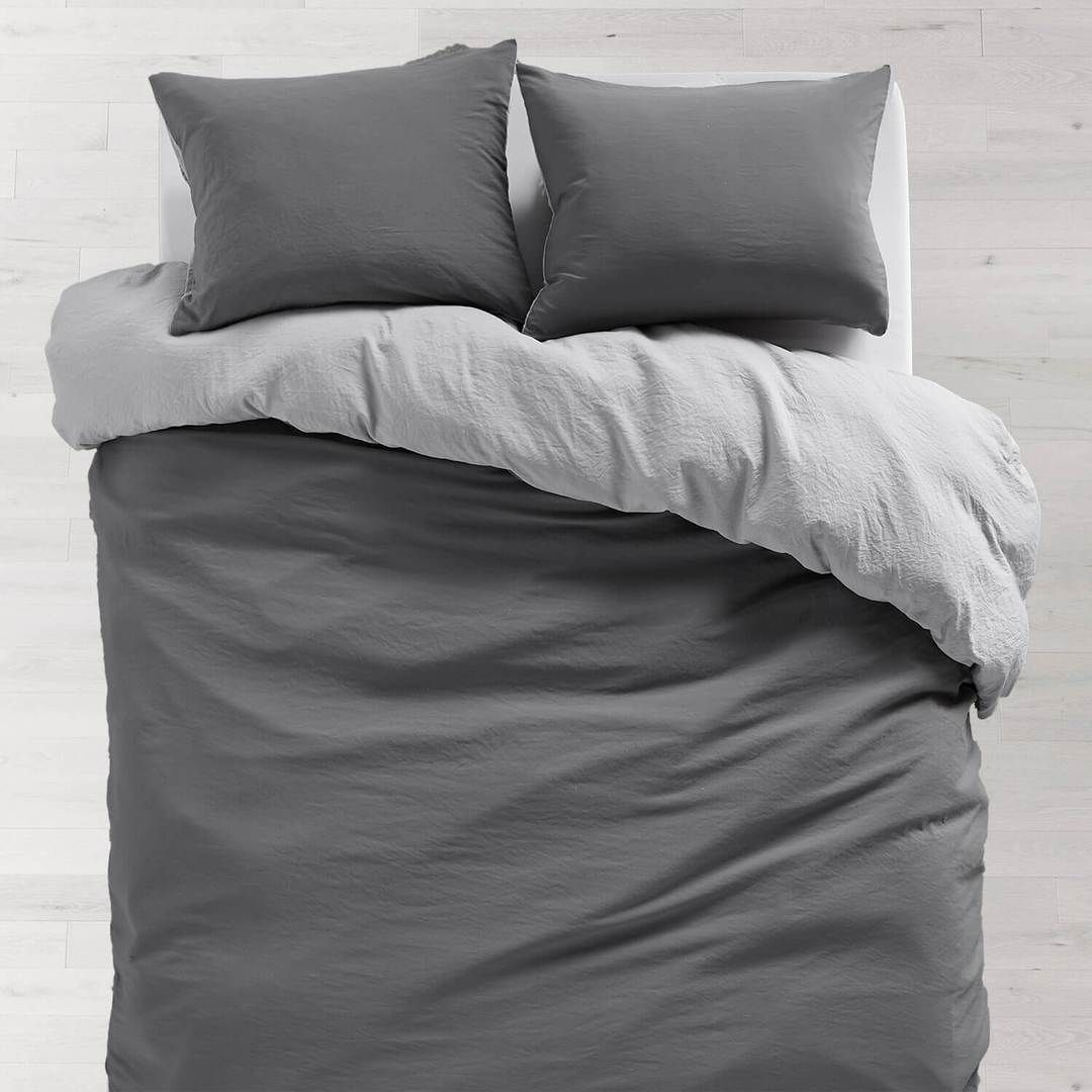 Grey Softwash Reversible Comforter And Sham Set Twin Twin Xl
