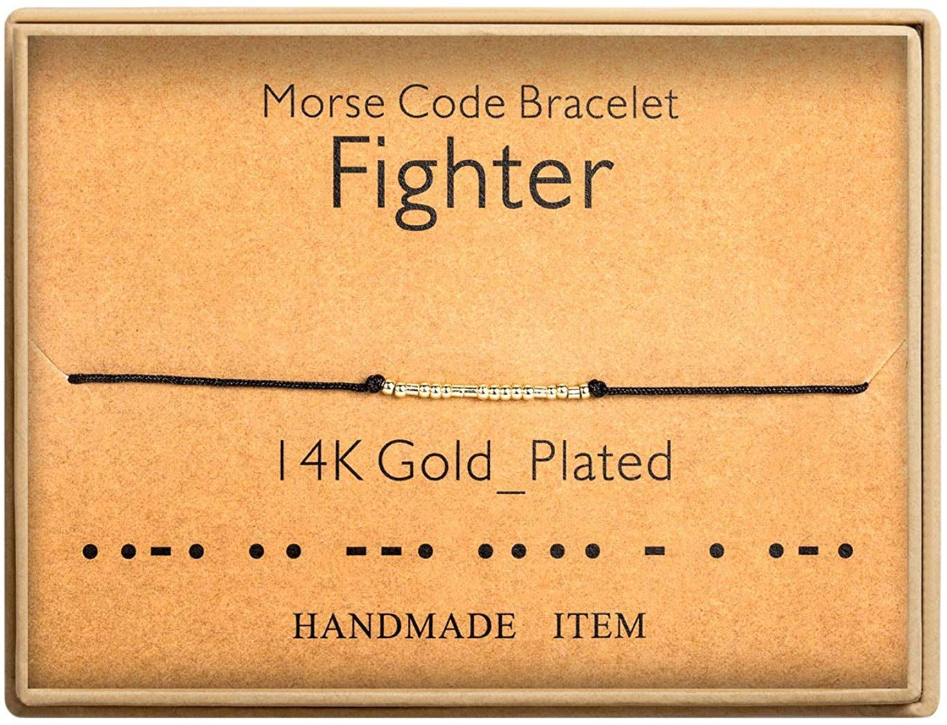 Ldurian Taurus Morse Code Bracelet Secret Message Cuff Bracelet Engagement Gift with Gift Box