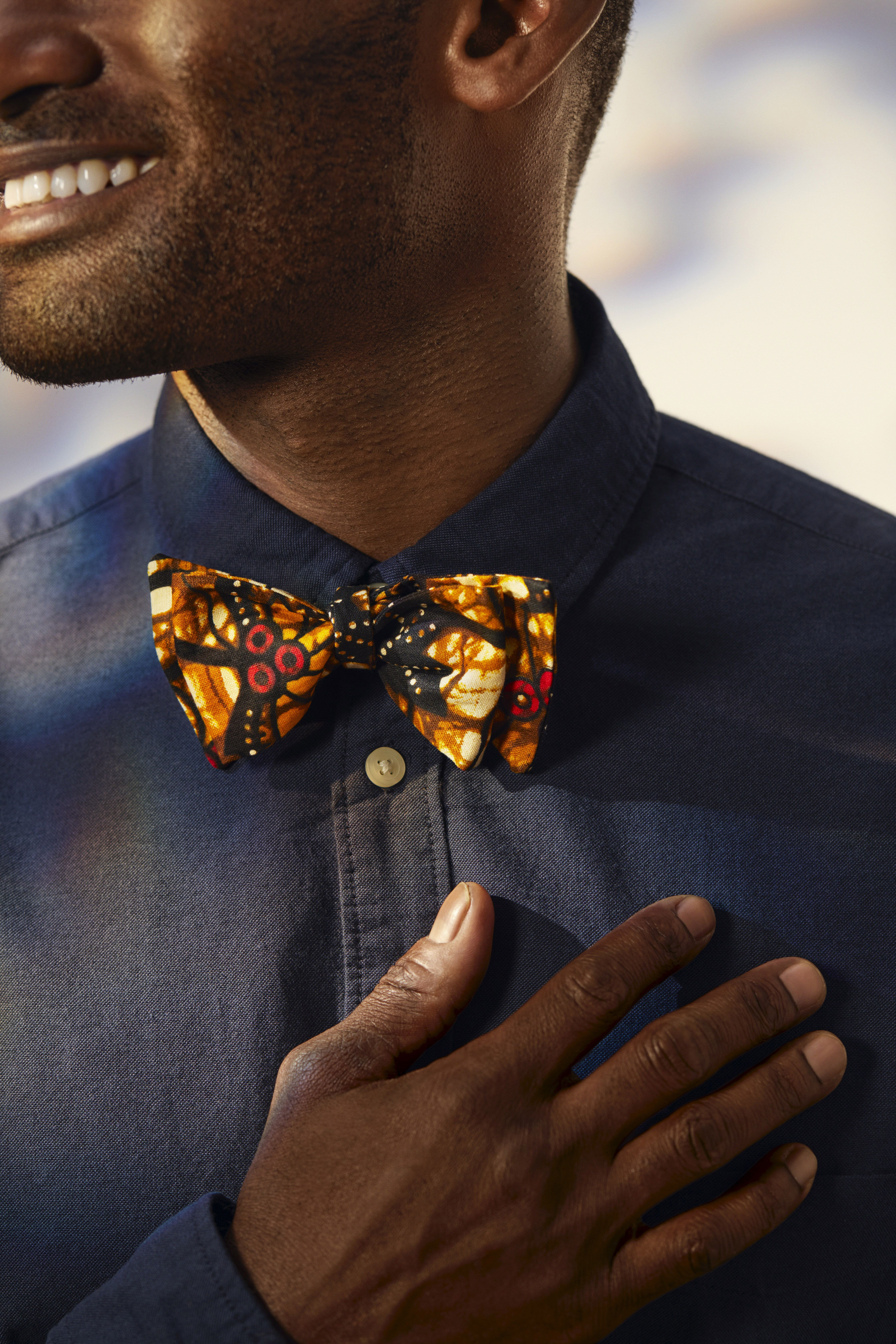 Stunning bowtie made with multicolored African fabric. This stylish bowtie makes a unique gift for him for the holidays, his birthday, or Father's Day. For all kinds of gifts for him, from unique and personalized to functional and everyday essentials, on Etsy.
