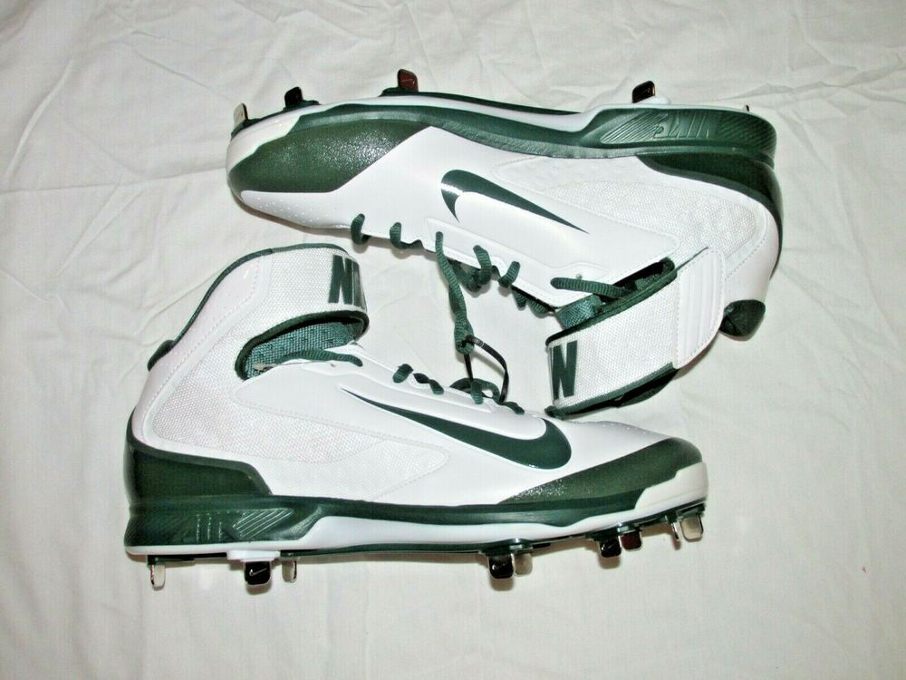 sale retailer de4e8 1258a Nike Air Huarache Pro Mid Metal Baseball Cleats 12.5 White Green  Nike