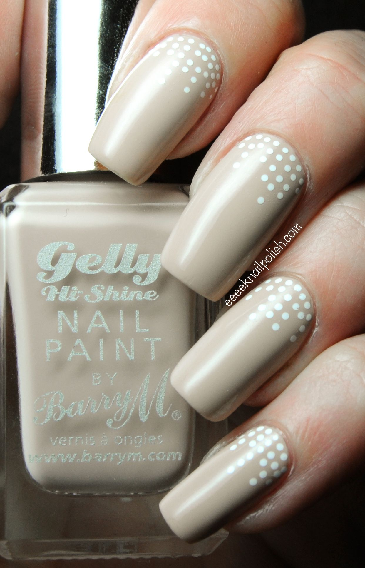 dotted nail art - BarryM \'Lychee\' & Sally Hansen Nail Art pen in ...