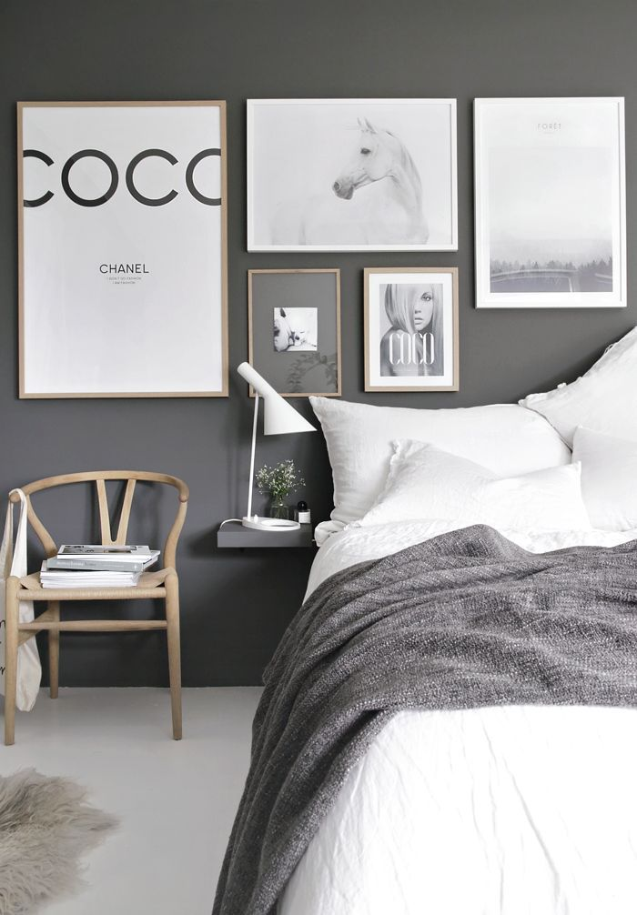 Scandinavian Grey And White Bedroom || @pattonmelo